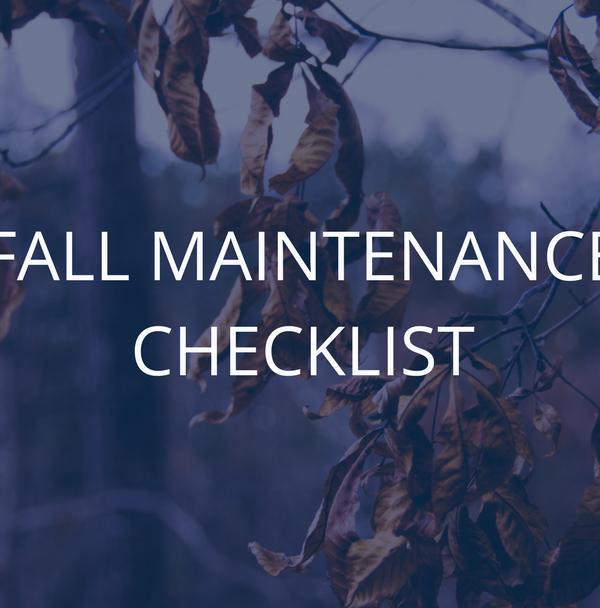 Fall Maintenance Checklist graphic
