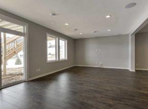 Unfurnished basement living area