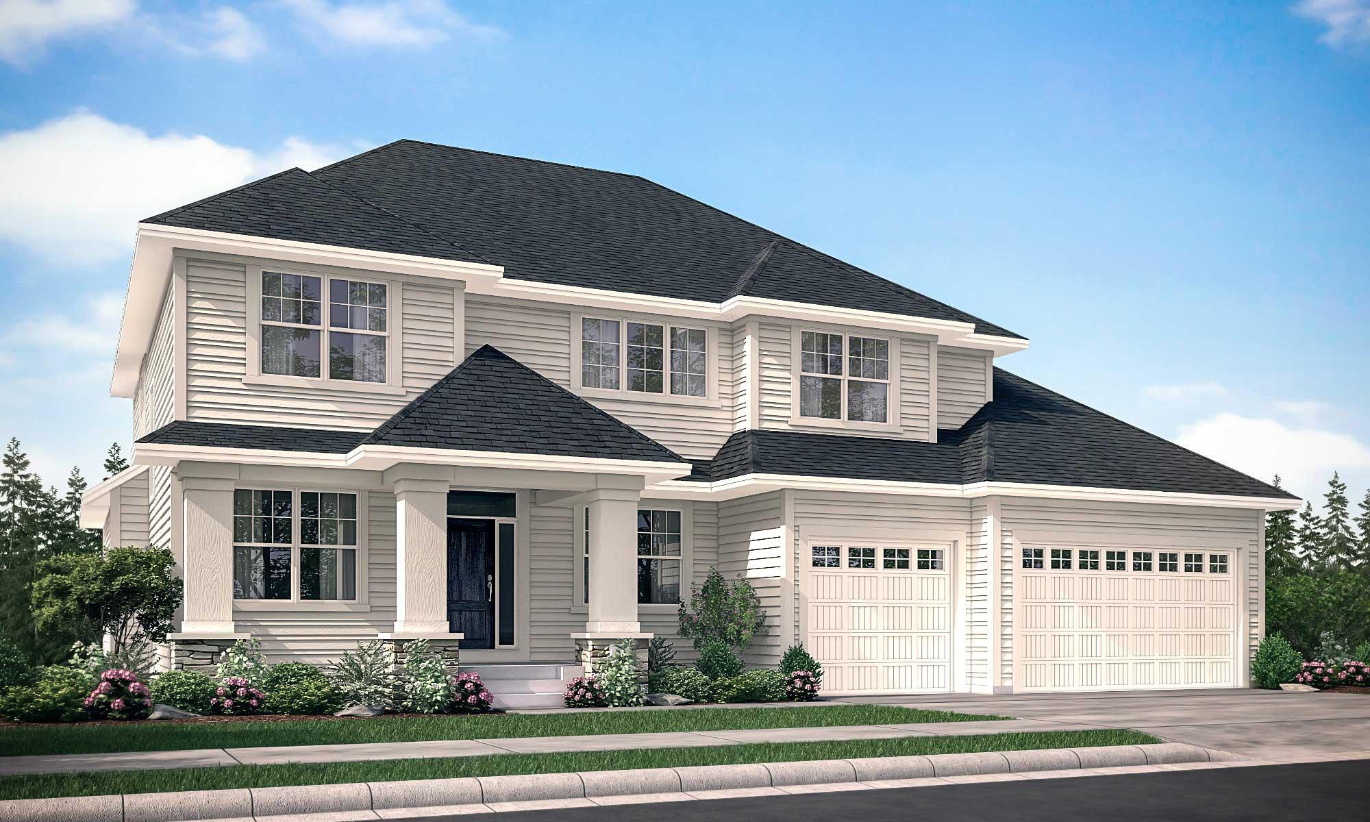 Exterior rendering of home with Nokomis C design