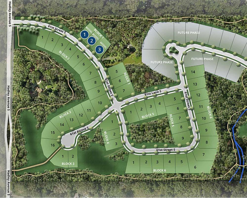 Site map of Eastbrooke neighborhood