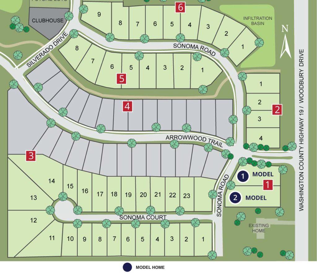 Site map of Highcroft neighborhood
