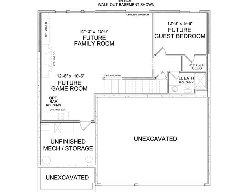 Lower level floor plan of Carmen A