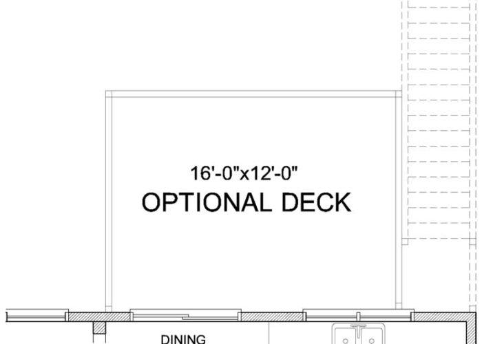 Auburn Plan Main Level Deck Option 1 A