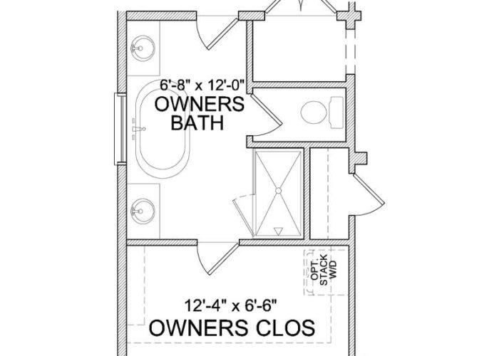 Auburn Plan Main Level Owners Bath Option 2 B