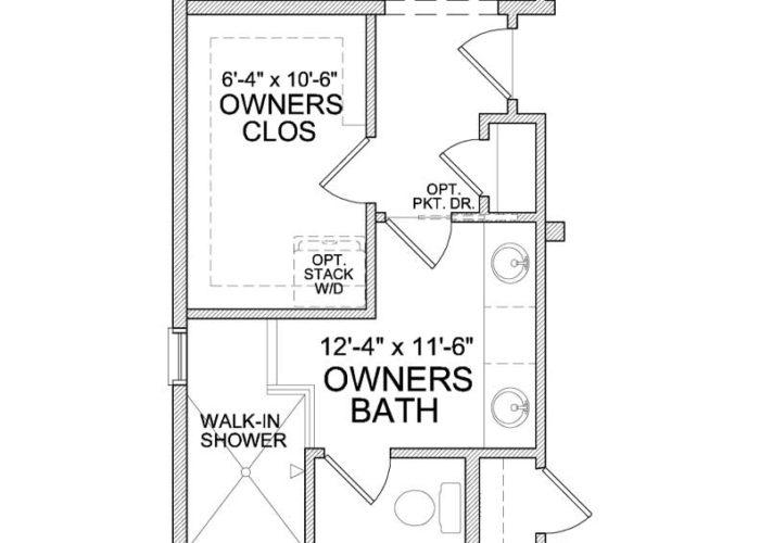 Auburn Plan Main Level Owners Bath Option 2 A