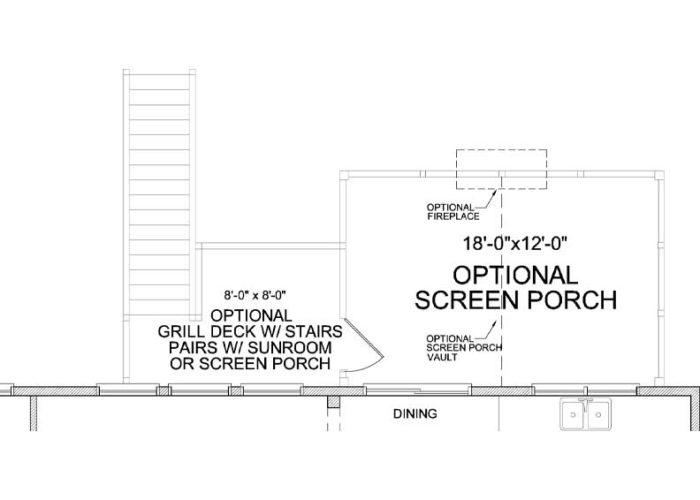 Auburn Plan Main Level Deck Option 1 B