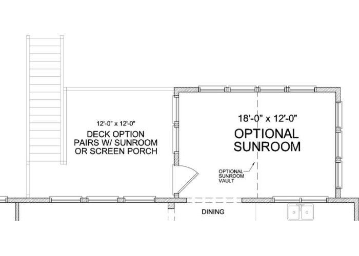 Auburn Plan Main Level Deck Option 1 C