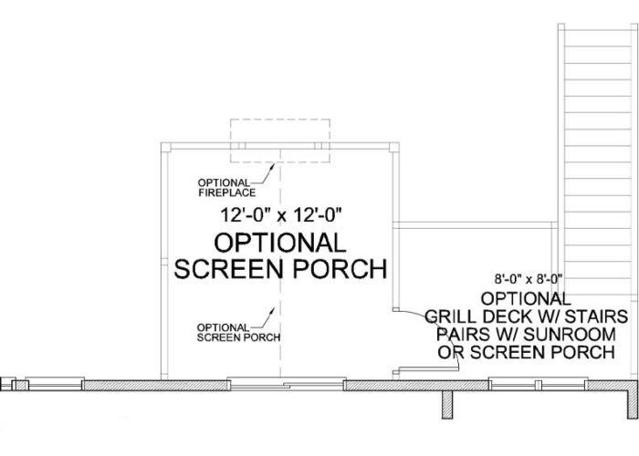 Carmen Plan Main Level Deck Option 1 B