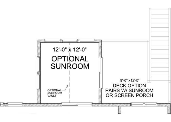 Carmen Plan Main Level Deck Option 1 C