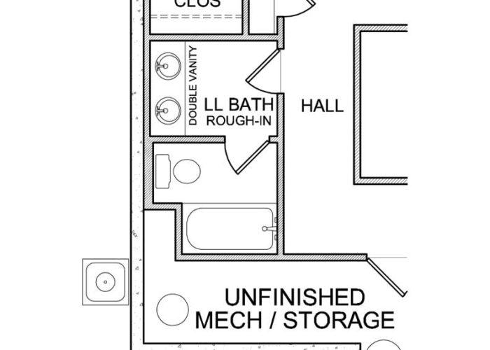 Halstead Plan Lower Level Bath Option 6