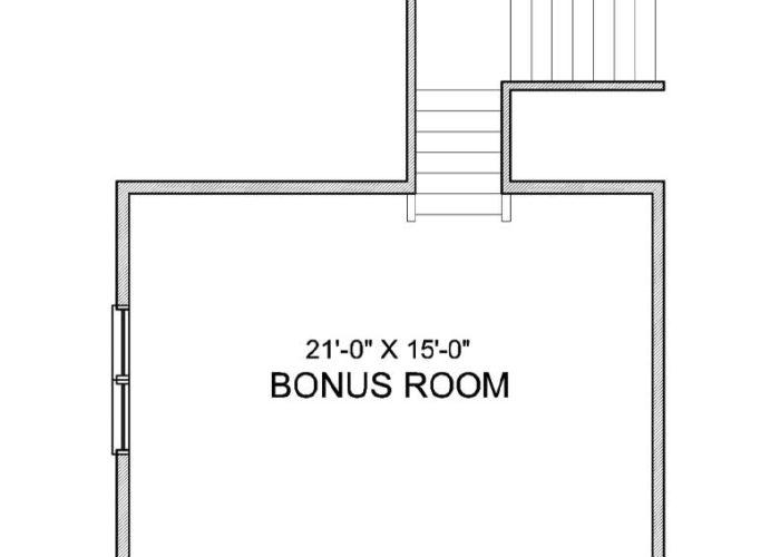 Halstead Plan Upper Level Bonus Room Option 8