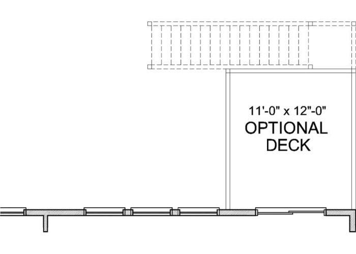 Halstead Plan Main Level Deck Option 1 A
