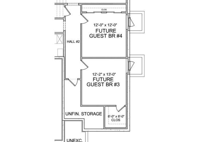 Halstead Plan Lower Level Guest Bedroom Option 7