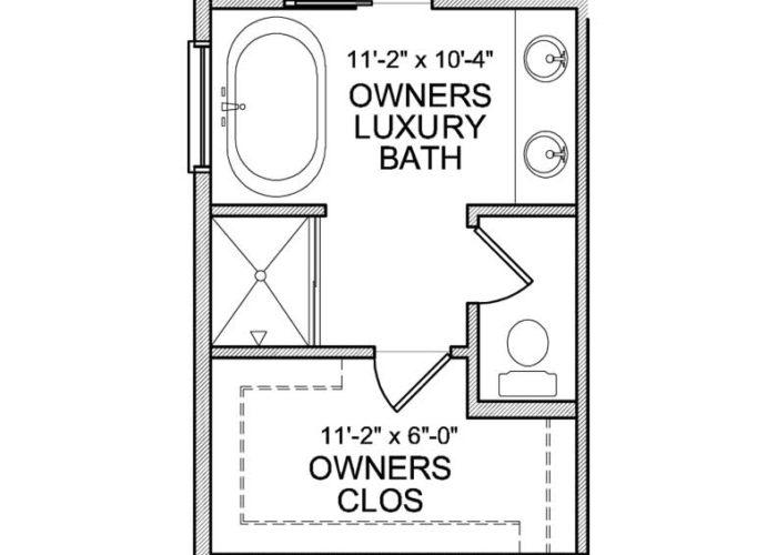 Halstead Plan Main Level Owners Bath Option 2 A