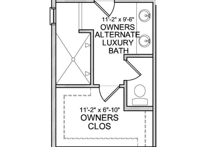 Halstead Plan Main Level Owners Bath Option 2 B