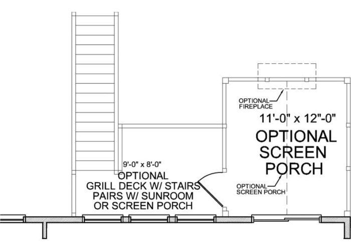 Halstead Plan Main Level Deck Option 1 B