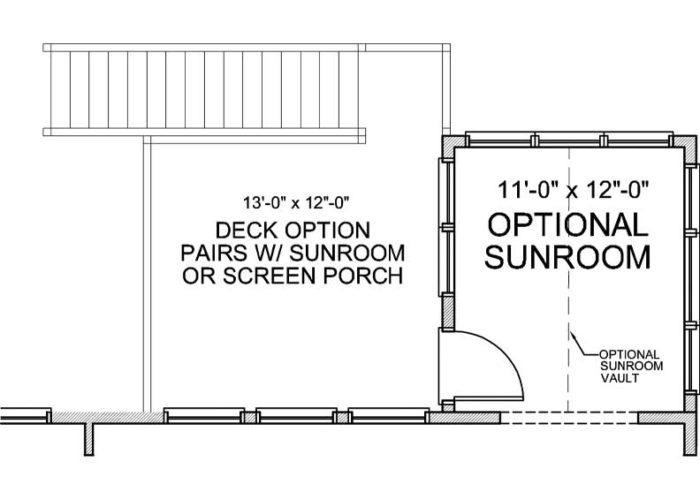 Halstead Plan Main Level Deck Option 1 C
