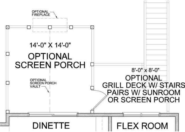 Harriet Plan Main Level Deck Option 1 B