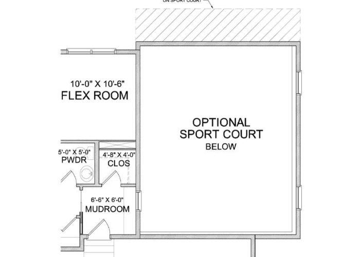 Harriet Plan Main Level Sportcourt Option 2