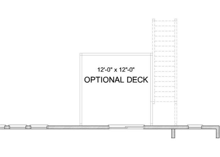 Harrison Plan Main Level Deck Option 1 A