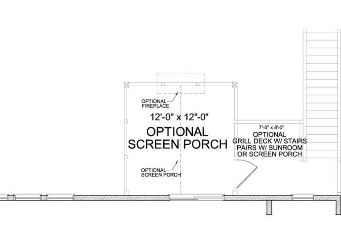 Harrison Plan Main Level Deck Option 1 B