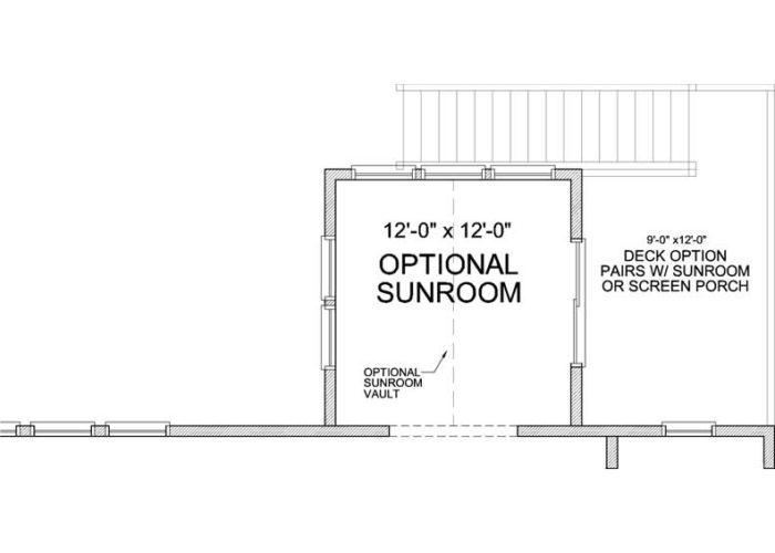 Harrison Plan Main Level Deck Option 1 C