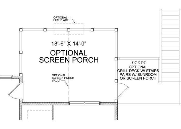 Itasca Plan Main Level Deck Option 1 B
