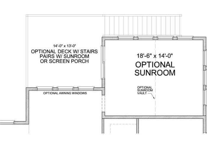 Itasca Plan Main Level Deck Option 1 C