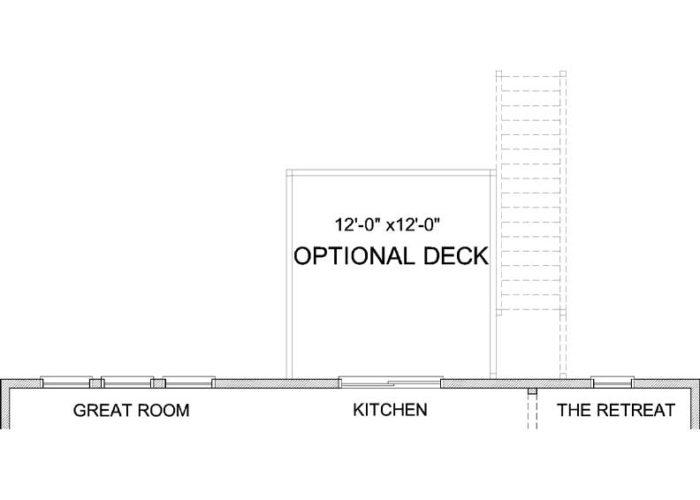 Jennings Plan Main Level Deck Option 1 A