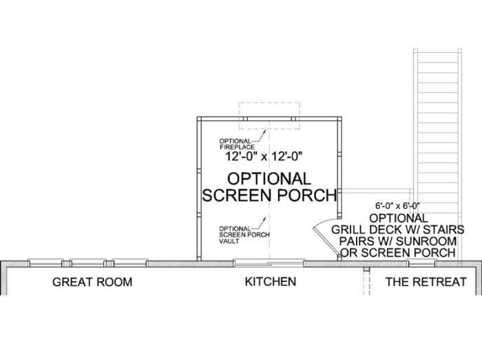 Jennings Plan Main Level Deck Option 1 B