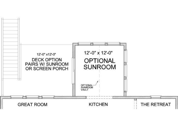 Jennings Plan Main Level Deck Option 1 C