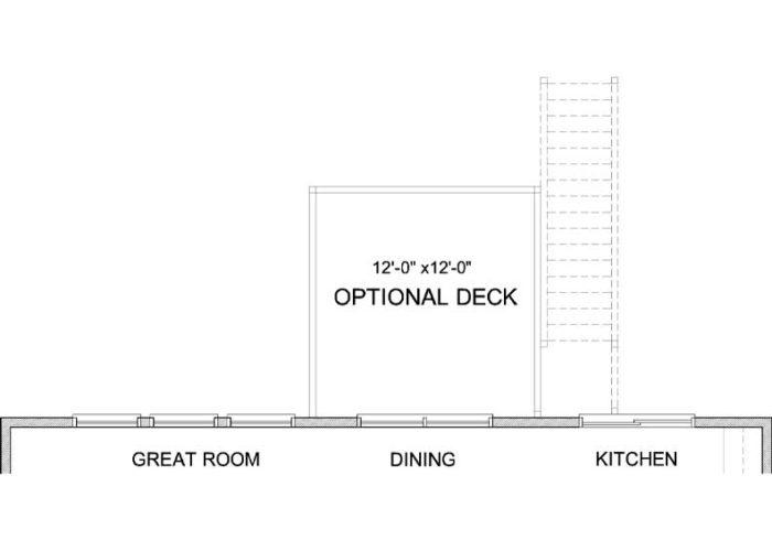 Langden Plan Main Level Deck Option 1 A