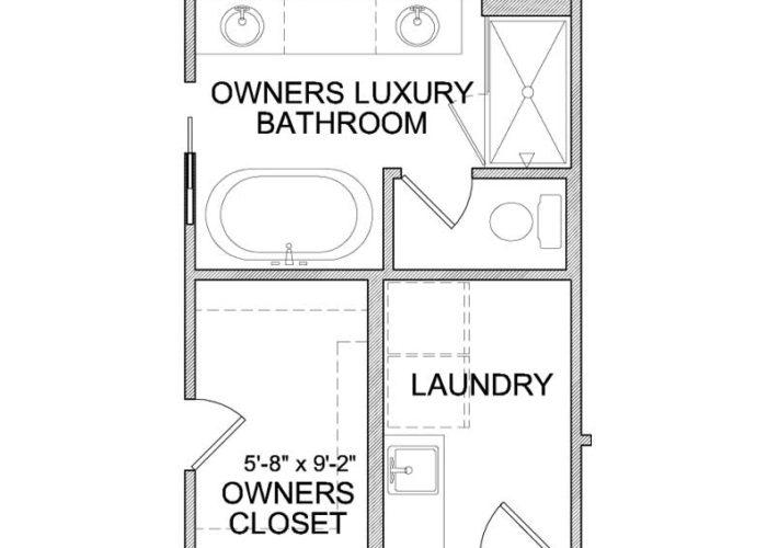 Langden Plan Upper Level Owners Bath Option 2 A