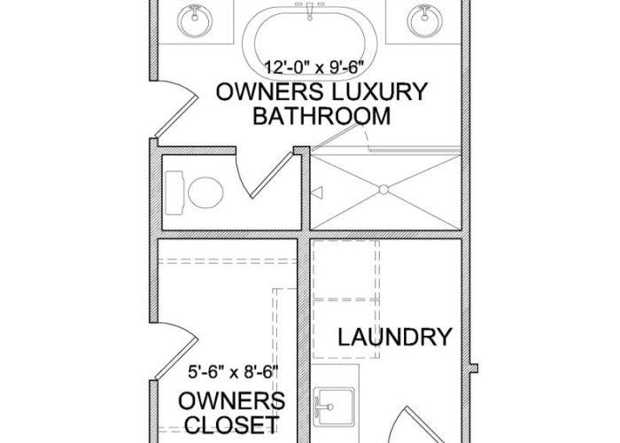Langden Plan Upper Level Owners Bath Option 2 B