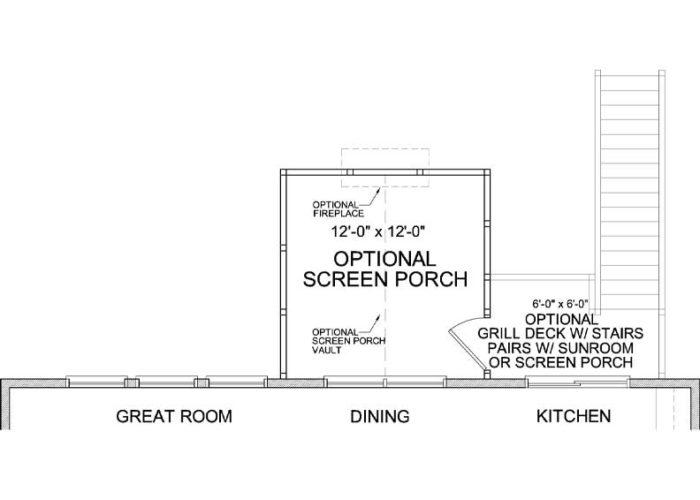 Langden Plan Main Level Deck Option 1 B