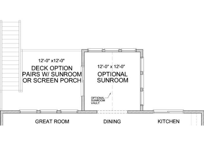 Langden Plan Main Level Deck Option 1 C