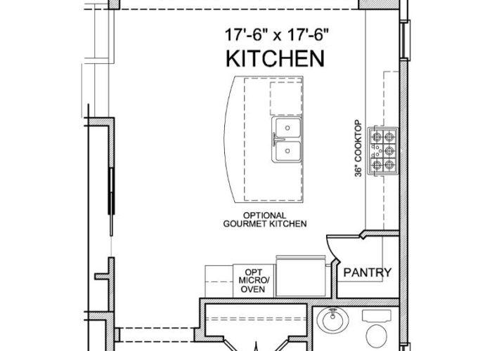 Maxwell Plan Main Level Alt Kitchen Layout Option 5