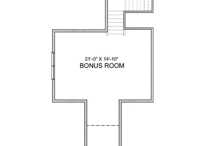 Maxwell Plan Upper Level Bonus Room Option 8