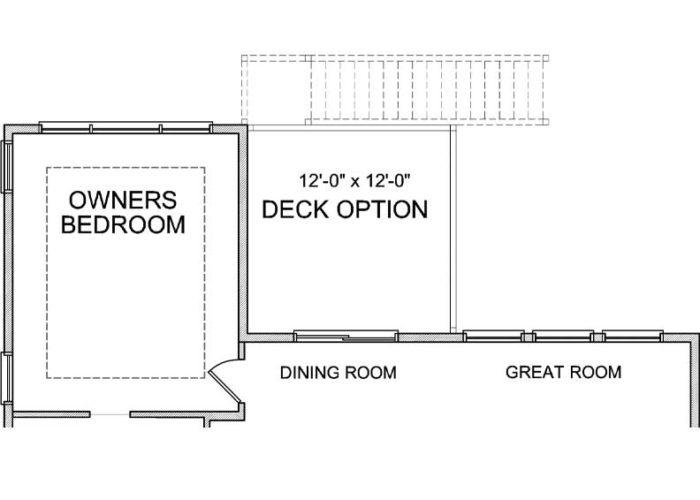Maxwell Plan Main Level Deck Option 1 A