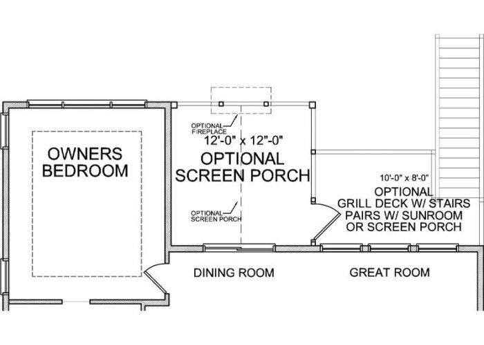 Maxwell Plan Main Level Deck Option 1 B