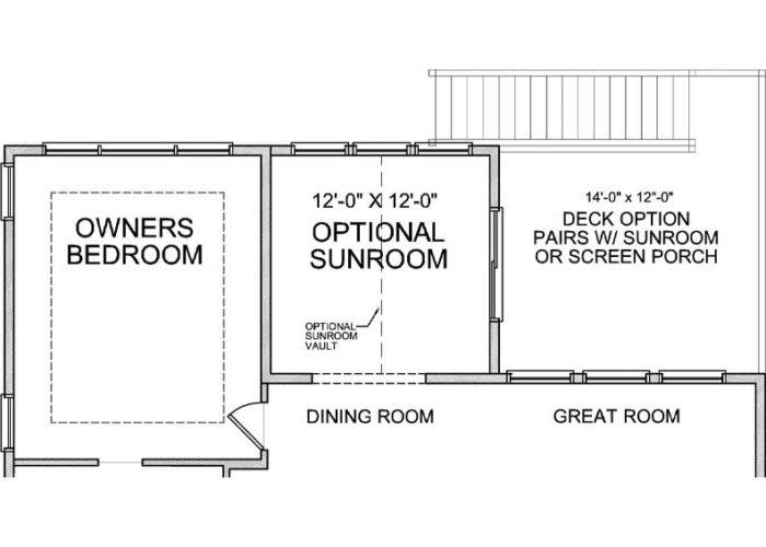 Maxwell Plan Main Level Deck Option Option 1 C
