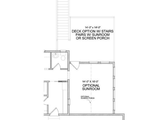 Nokomis Plan Main Level Deck without Sportcourt Option 3 C