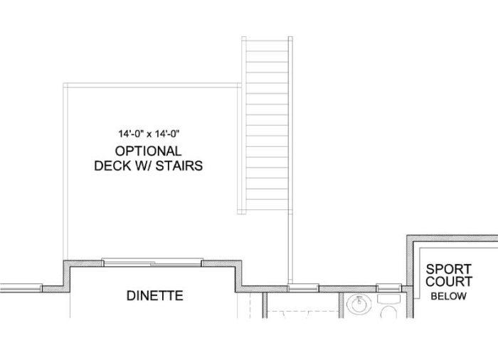 Nokomis Plan Main Level Deck and Sportcourt Option 2 A