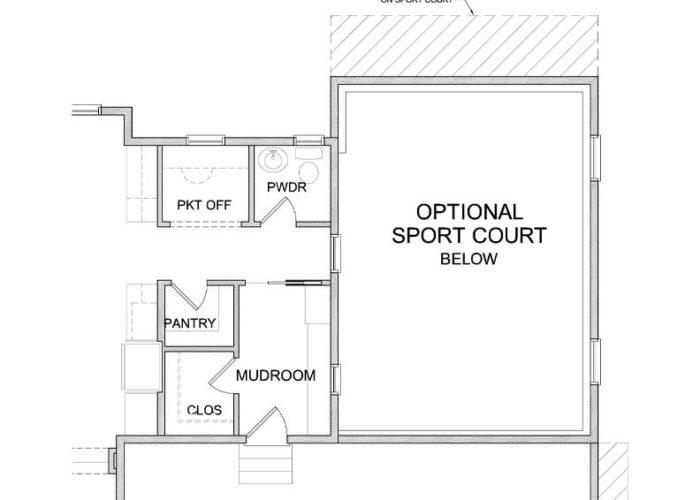 Nokomis Plan Main Level Sportcourt Option 1