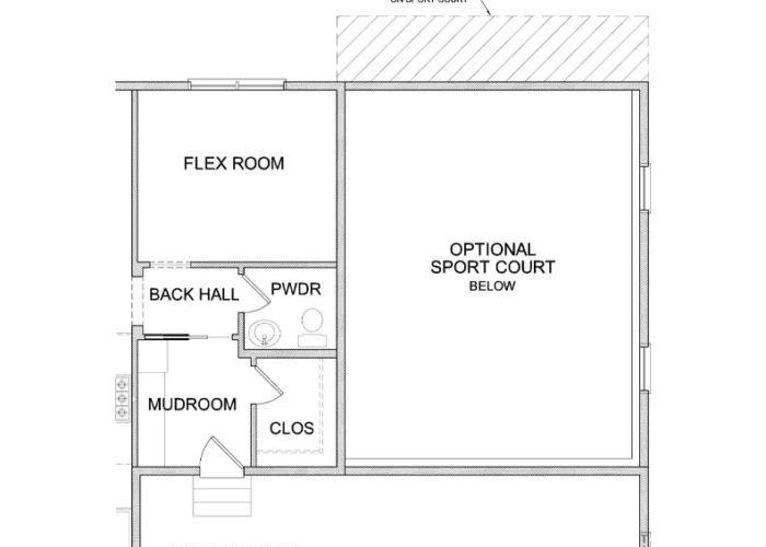 Pepin Plan Main Level Sportcourt Option 4