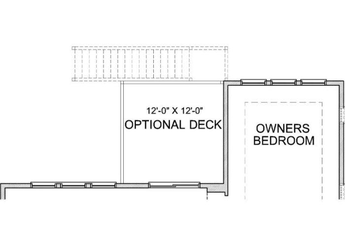Smithtown Plan Main Level Deck Option 1 A