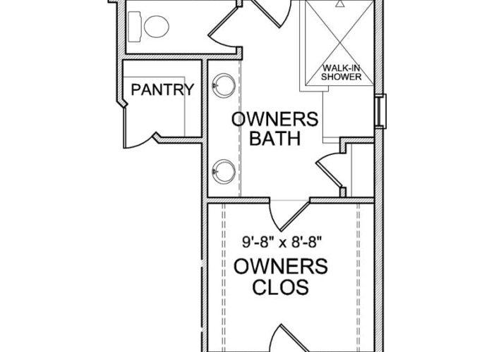 Smithtown Plan Main Level Owners Bath Option 2 A