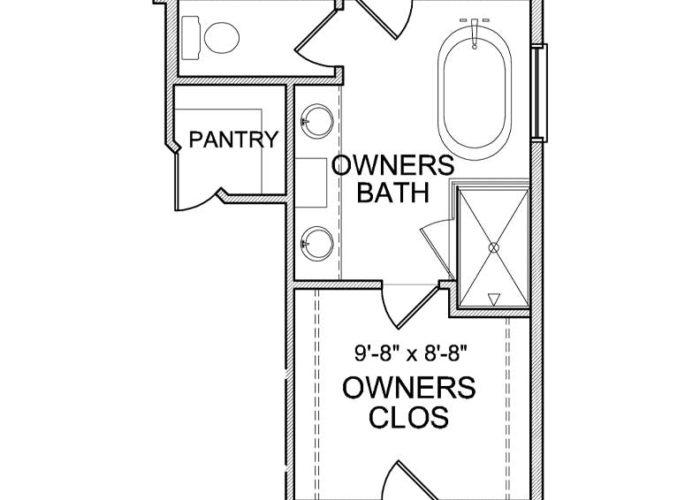 Smithtown Plan Main Level Owners Bath Option 2 B