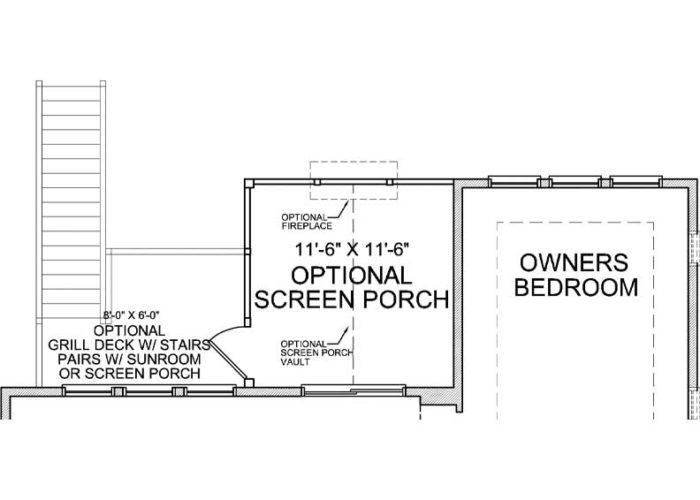 Smithtown Plan Main Level Deck Option 1 B