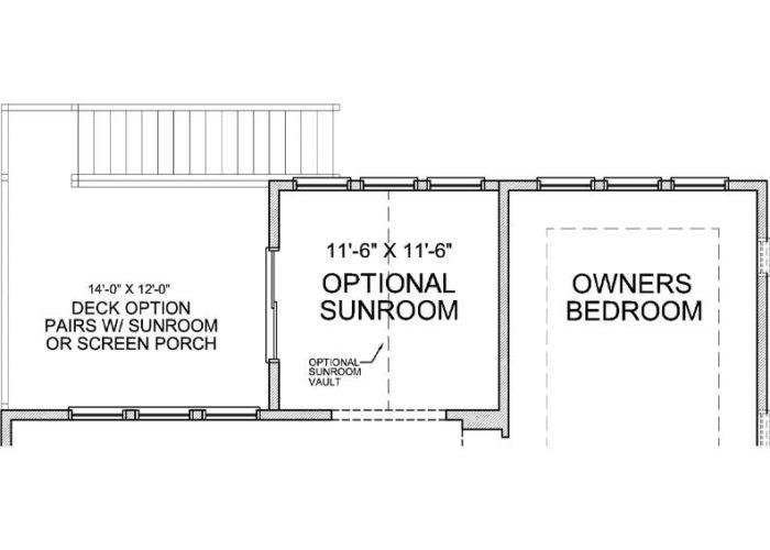 Smithtown Plan Main Level Deck Option 1 C